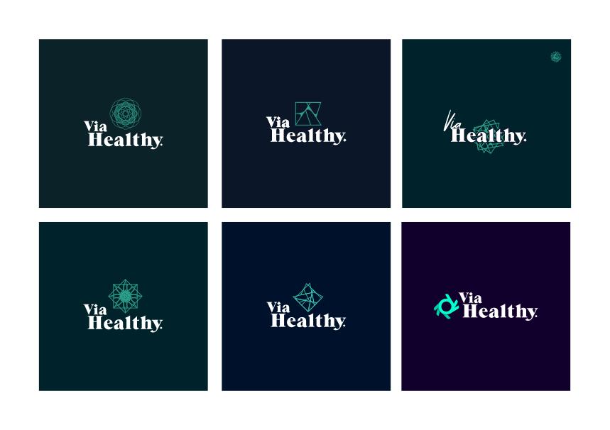 Via Healthy Logo Design | Health and Fitness Logo Design | 702 Pros