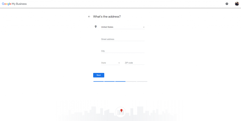 how to create a google my business account - whats your business address info