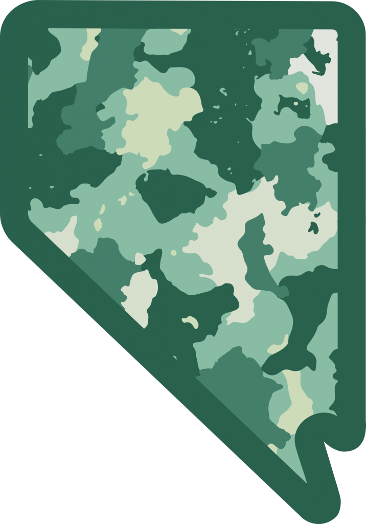 Camouflage Nevada Symbol   Green Nevada Graphic Design by 702 Pros