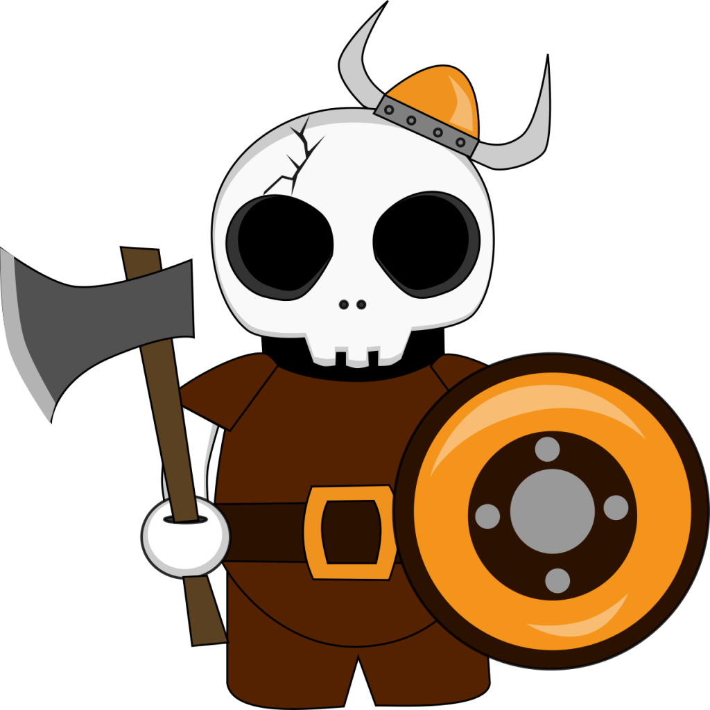 Animated Viking Graphic Design   Skull Pals   Character Design by 702 Pros