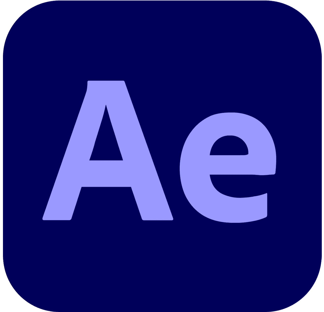 Transparent After Effects Logo AE